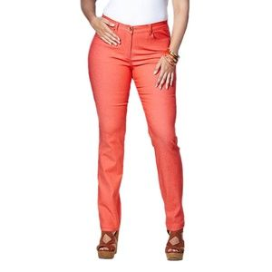 Simply Be Truly Wow Coral Slim Leg Jeans sz 18/20